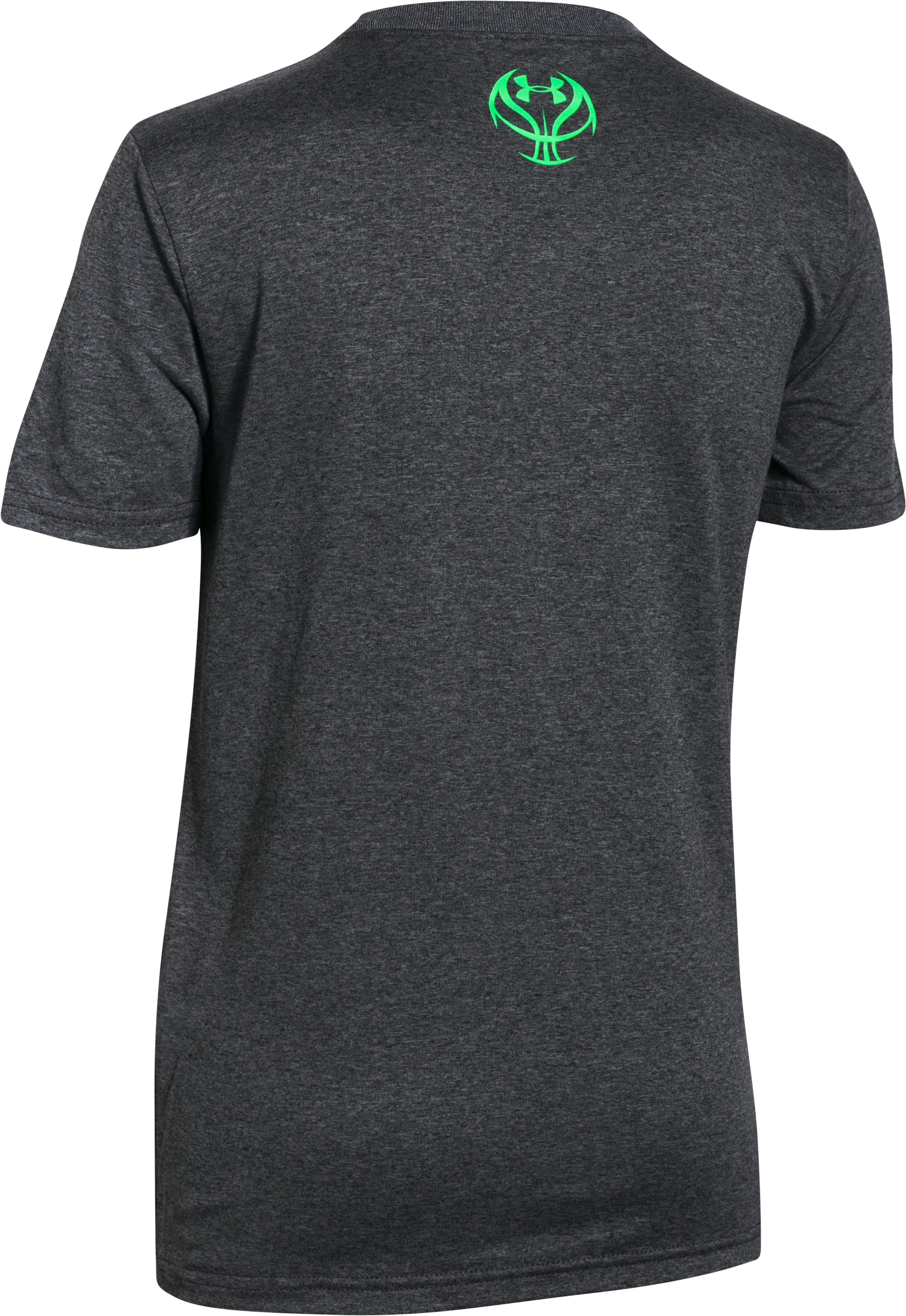 Boys' UA Dominate The Court T-Shirt, Carbon Heather,
