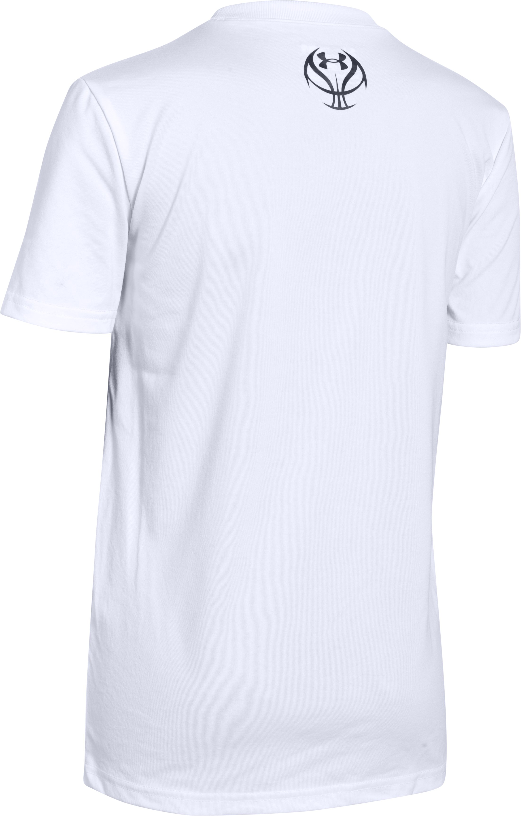 Boys UA Attack The Rim T-Shirt, White, undefined