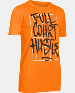 Boys' UA Full Court Hustle T-Shirt  1 Color $11.24 to $14.99