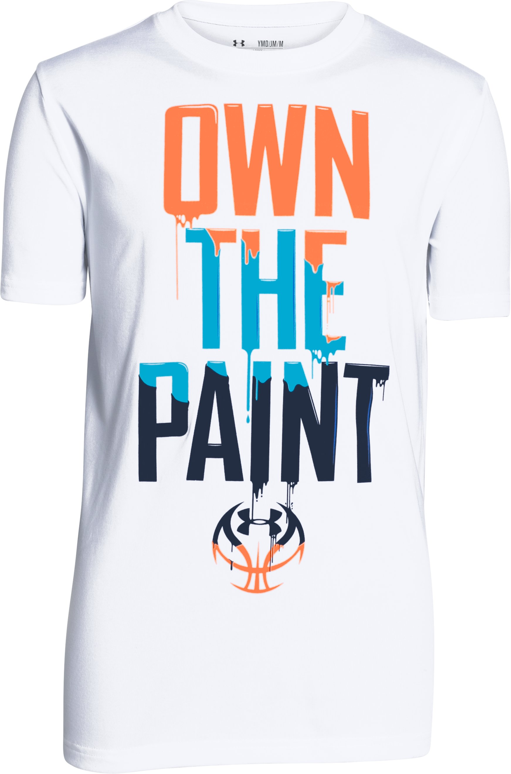 Boys' UA Own The Paint T-Shirt, White,