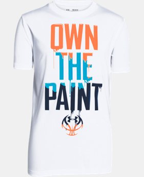 Boys' UA Own The Paint T-Shirt   $14.99