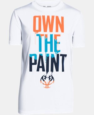 Boys' UA Own The Paint T-Shirt  1 Color $11.24