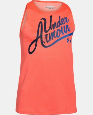 Girls' UA Aloha Wordmark Tank LIMITED TIME: FREE U.S. SHIPPING 3 Colors $14.24 to $18.99