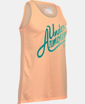 Girls' UA Aloha Wordmark Tank  1 Color $24.99