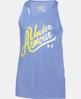 Girls' UA Aloha Wordmark Tank  1 Color $17.24 to $22.99