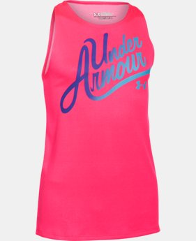 Girls' UA Aloha Wordmark Tank LIMITED TIME: FREE SHIPPING 2 Colors $17.24 to $22.99