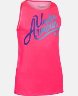 Girls' UA Aloha Wordmark Tank  2 Colors $17.24 to $22.99