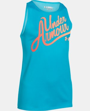 New Arrival  Girls' UA Aloha Wordmark Tank LIMITED TIME: FREE SHIPPING 1 Color $22.99