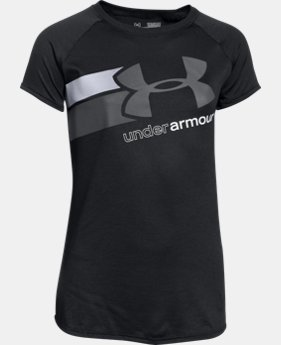 Best Seller Girls' UA Fast Lane T-Shirt LIMITED TIME: FREE SHIPPING 4 Colors $19.99