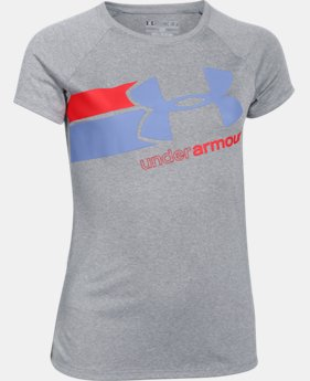New to Outlet Girls' UA Fast Lane T-Shirt LIMITED TIME: FREE SHIPPING 1 Color $14.99