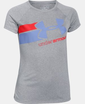 New to Outlet Girls' UA Fast Lane T-Shirt LIMITED TIME: FREE U.S. SHIPPING 1 Color $14.99