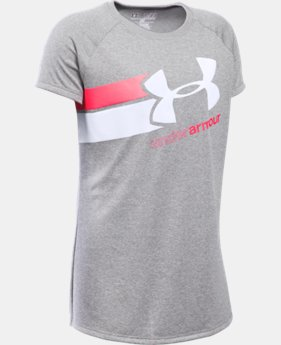 Best Seller Girls' UA Fast Lane T-Shirt LIMITED TIME: FREE SHIPPING 5 Colors $19.99