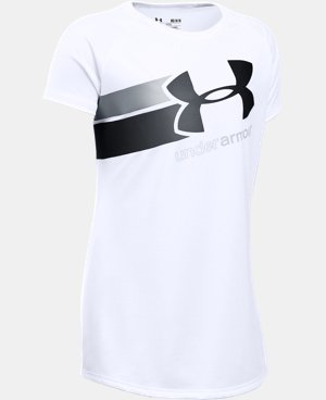 New Arrival  Girls' UA Fast Lane T-Shirt LIMITED TIME: FREE SHIPPING 1 Color $22.99