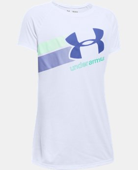 New to Outlet Girls' UA Fast Lane T-Shirt LIMITED TIME: FREE U.S. SHIPPING 5 Colors $14.99