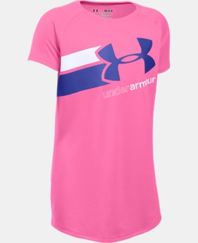 Best Seller Girls' UA Fast Lane T-Shirt LIMITED TIME: FREE SHIPPING  $19.99