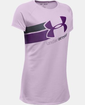 Best Seller Girls' UA Fast Lane T-Shirt LIMITED TIME: FREE SHIPPING 2 Colors $19.99