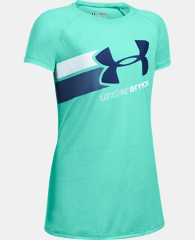 New to Outlet Girls' UA Fast Lane T-Shirt LIMITED TIME: FREE U.S. SHIPPING 6 Colors $14.99