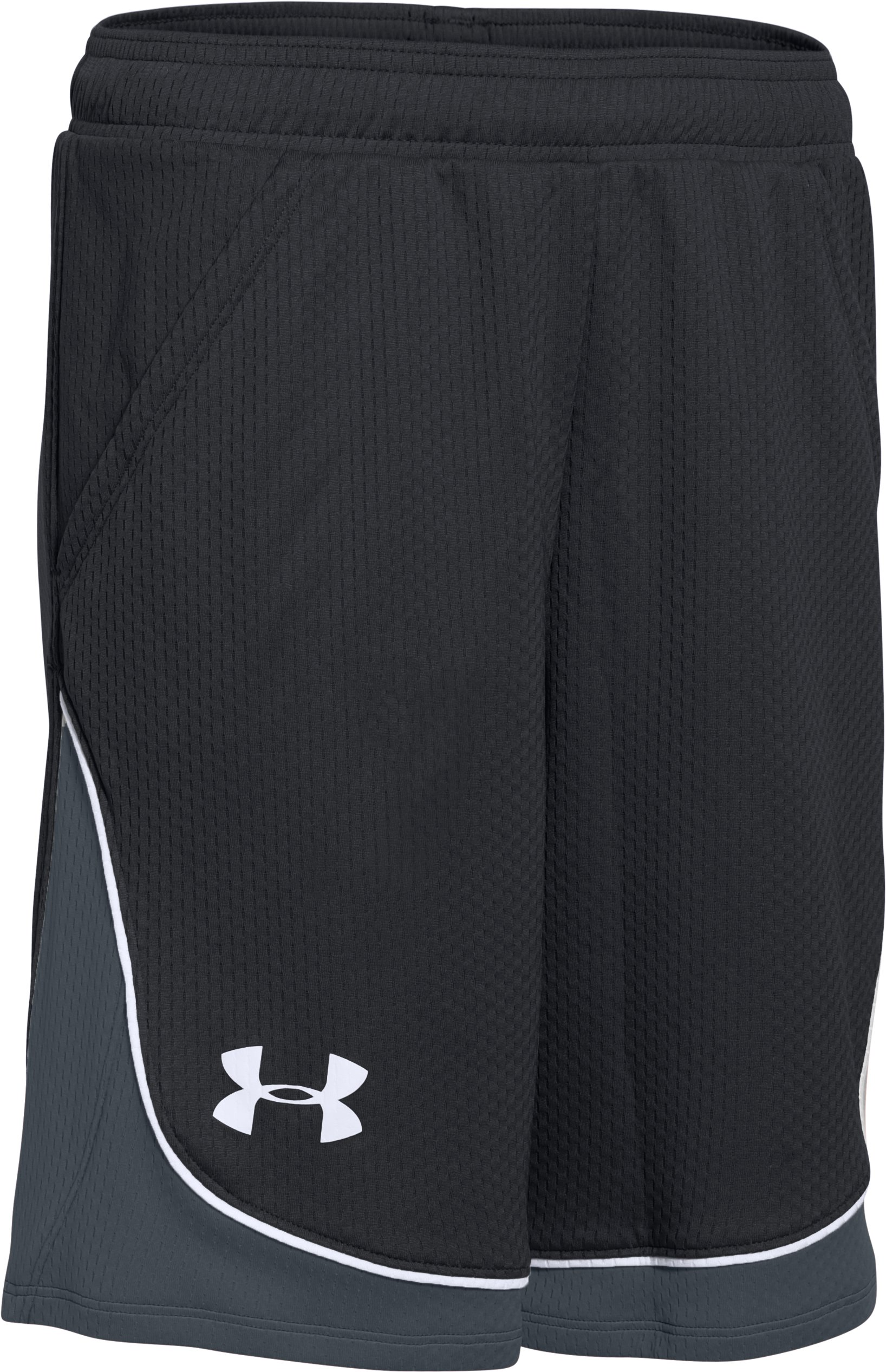 Girls' UA Pop A Shot Basketball Short, Black , zoomed image