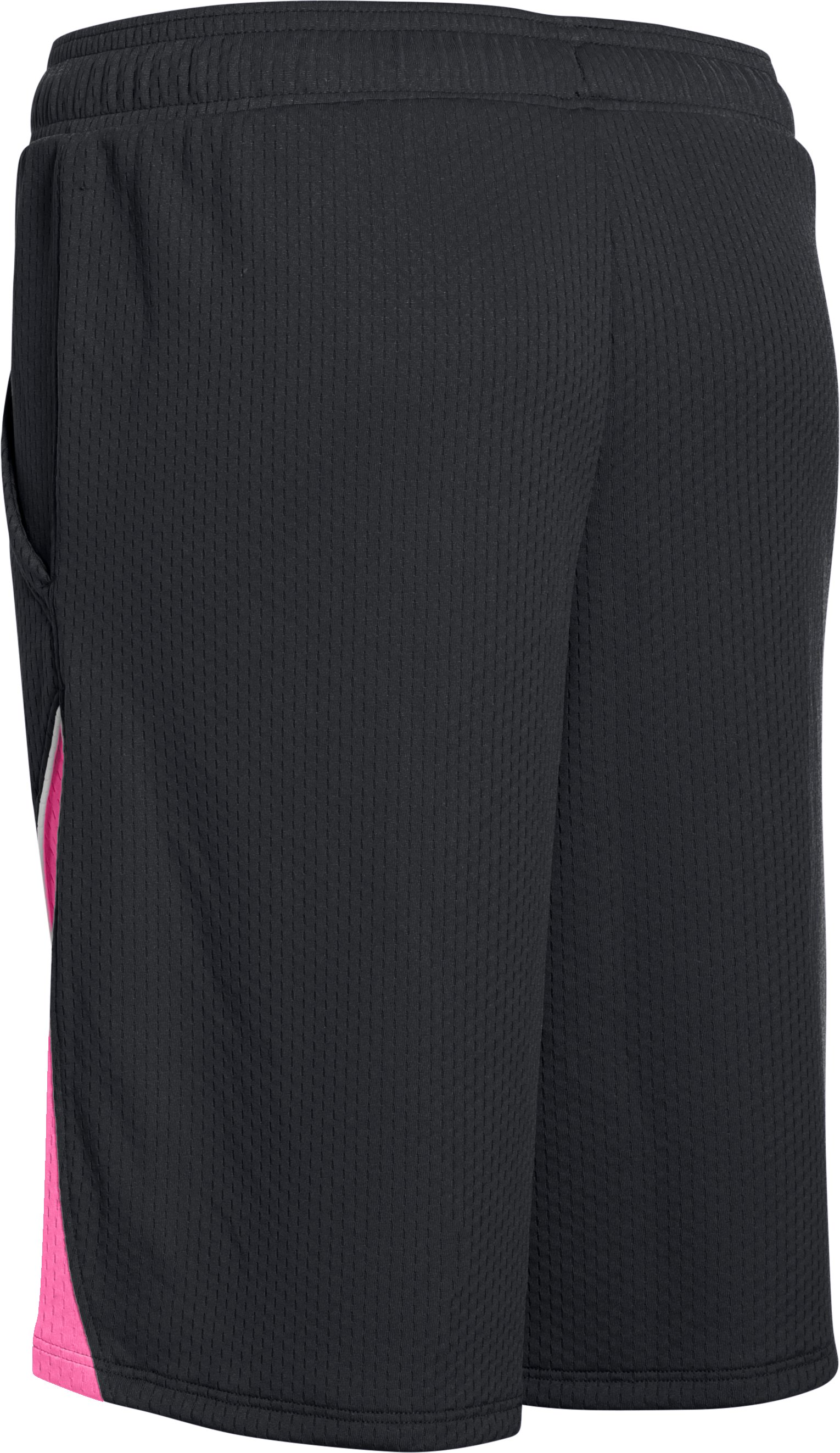 Girls' UA Pop A Shot Basketball Shorts, Black , undefined