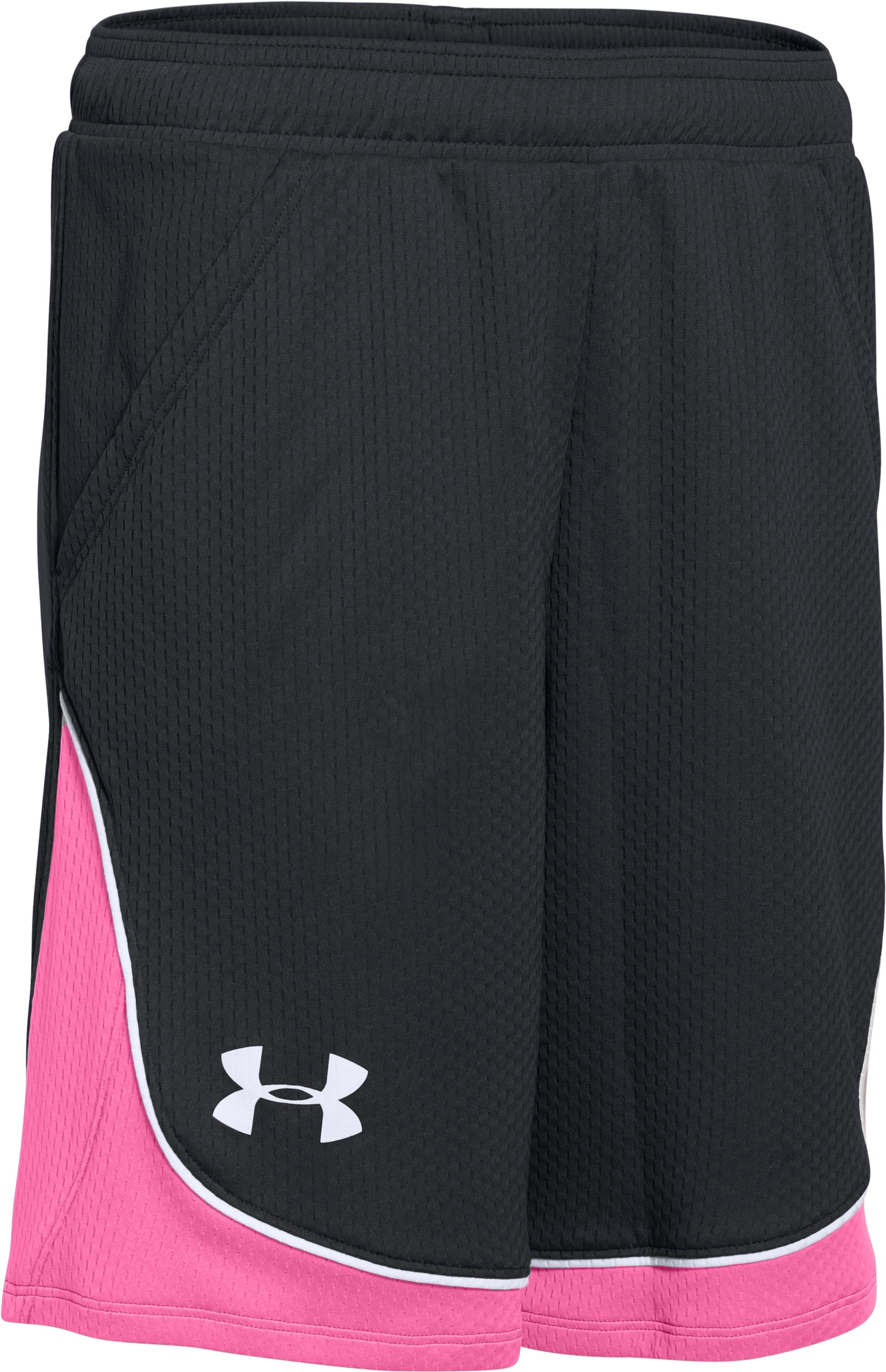 Girls' UA Pop A Shot Basketball Shorts, Black