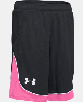 Best Seller Girls' UA Pop A Shot Basketball Short  4 Colors $27.99