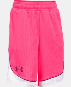 New to Outlet Girls' UA Pop A Shot Basketball Short  1 Color $16.99 to $20.99