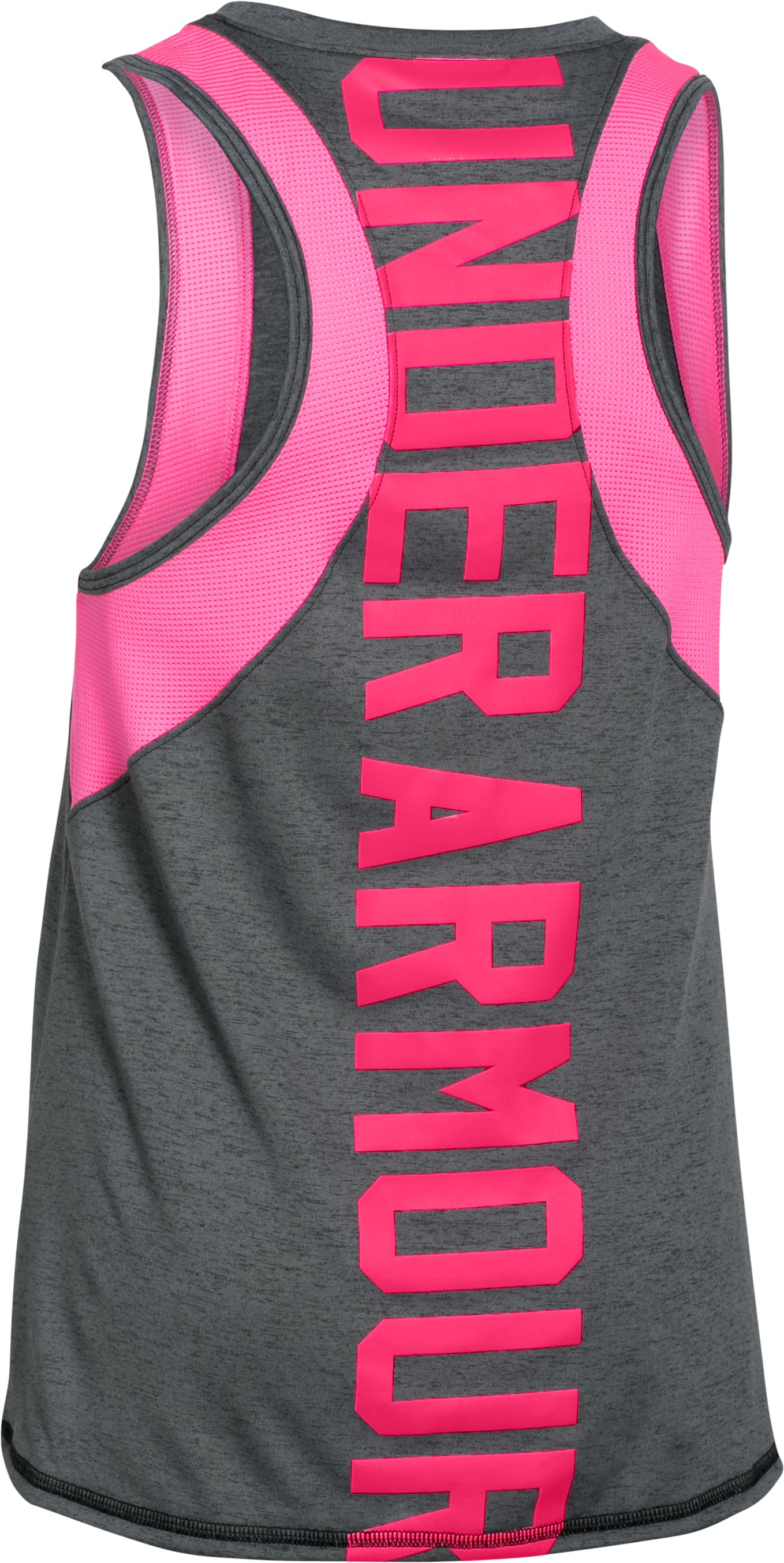 Girls' UA Quick Pass Tank, Black , undefined