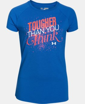Girls' UA Tougher Than You Think Short Sleeve   1 Color $14.99
