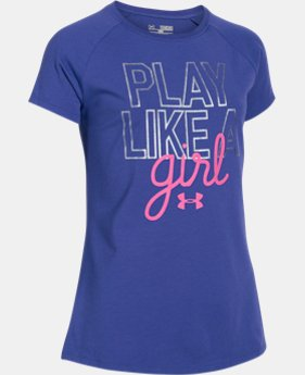 Best Seller Girls' UA Play Like A Girl Short Sleeve LIMITED TIME: FREE U.S. SHIPPING 1 Color $22.99