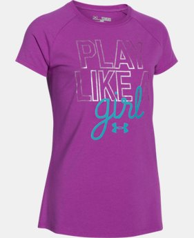 Girls' UA Play Like A Girl Short Sleeve LIMITED TIME: FREE U.S. SHIPPING 1 Color $17.99