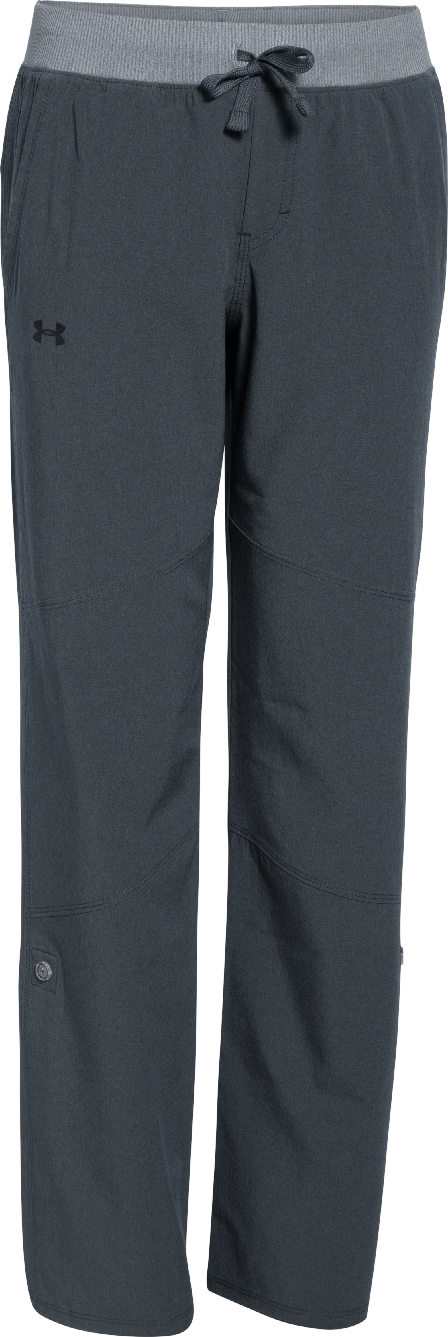 Girls' UA Premiere Woven Pants, STEALTH GRAY