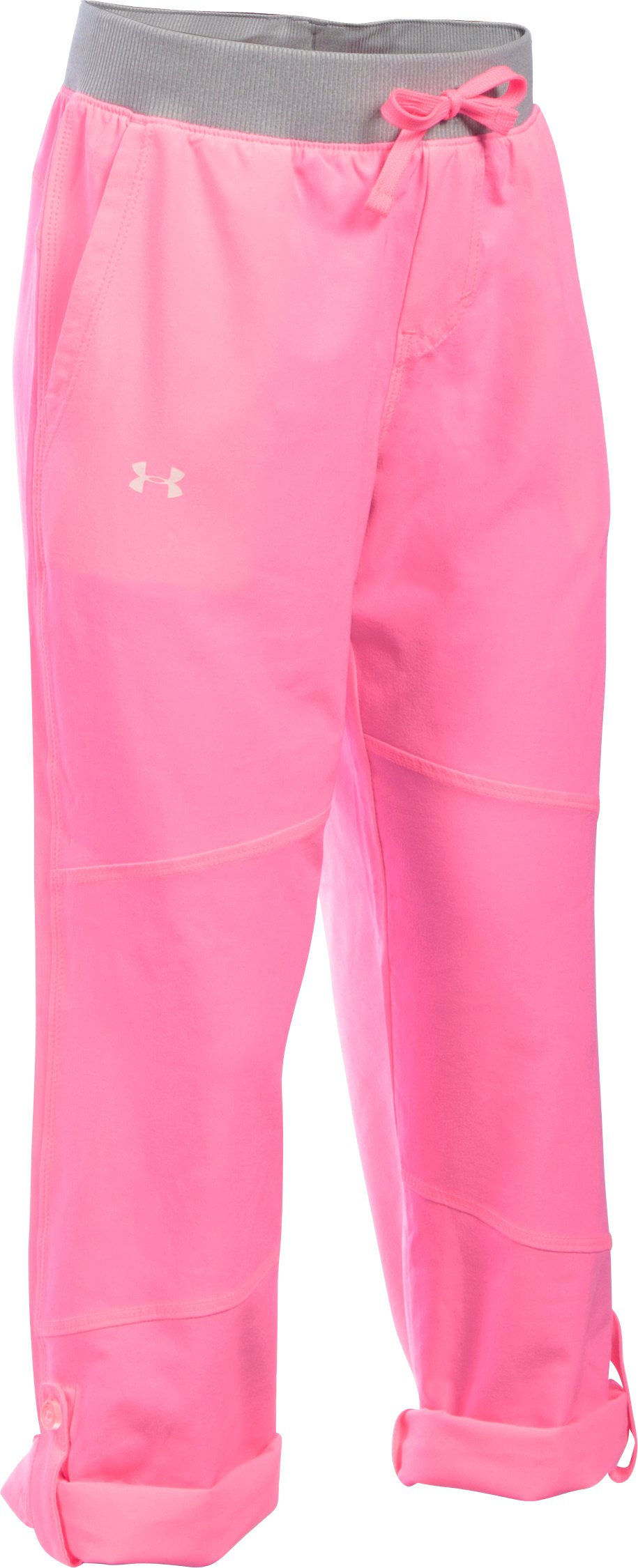 Girls' UA Premiere Woven Pants, PINK PUNK, zoomed image