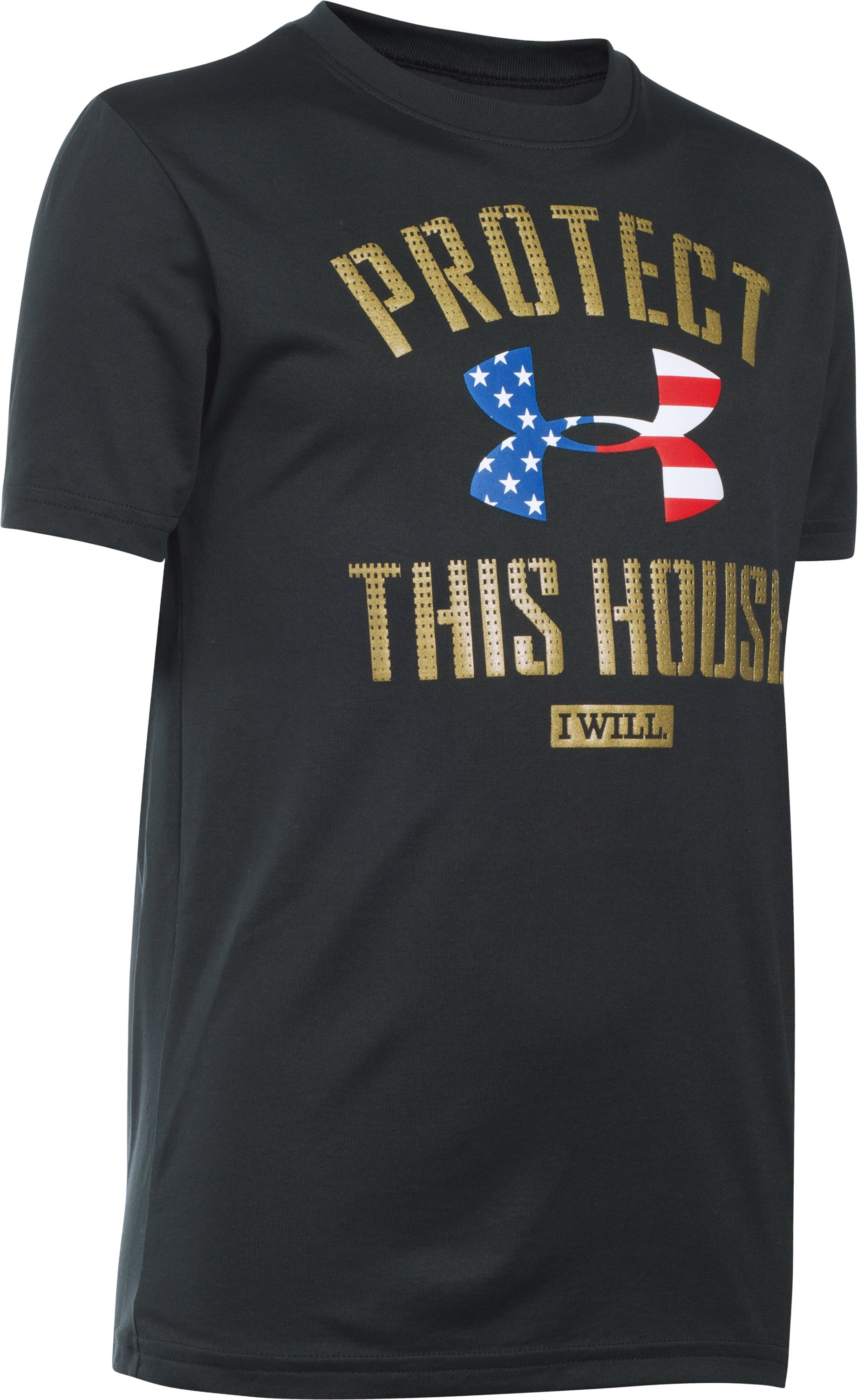 Boys' UA USA PTH® T-Shirt, Black , zoomed image
