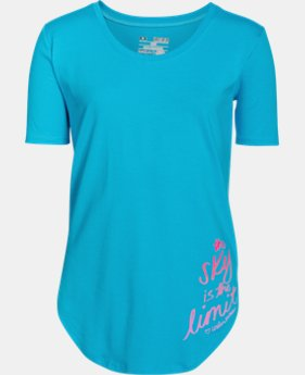 Girls' UA The Sky Is The Limit Short Sleeve   $24.99
