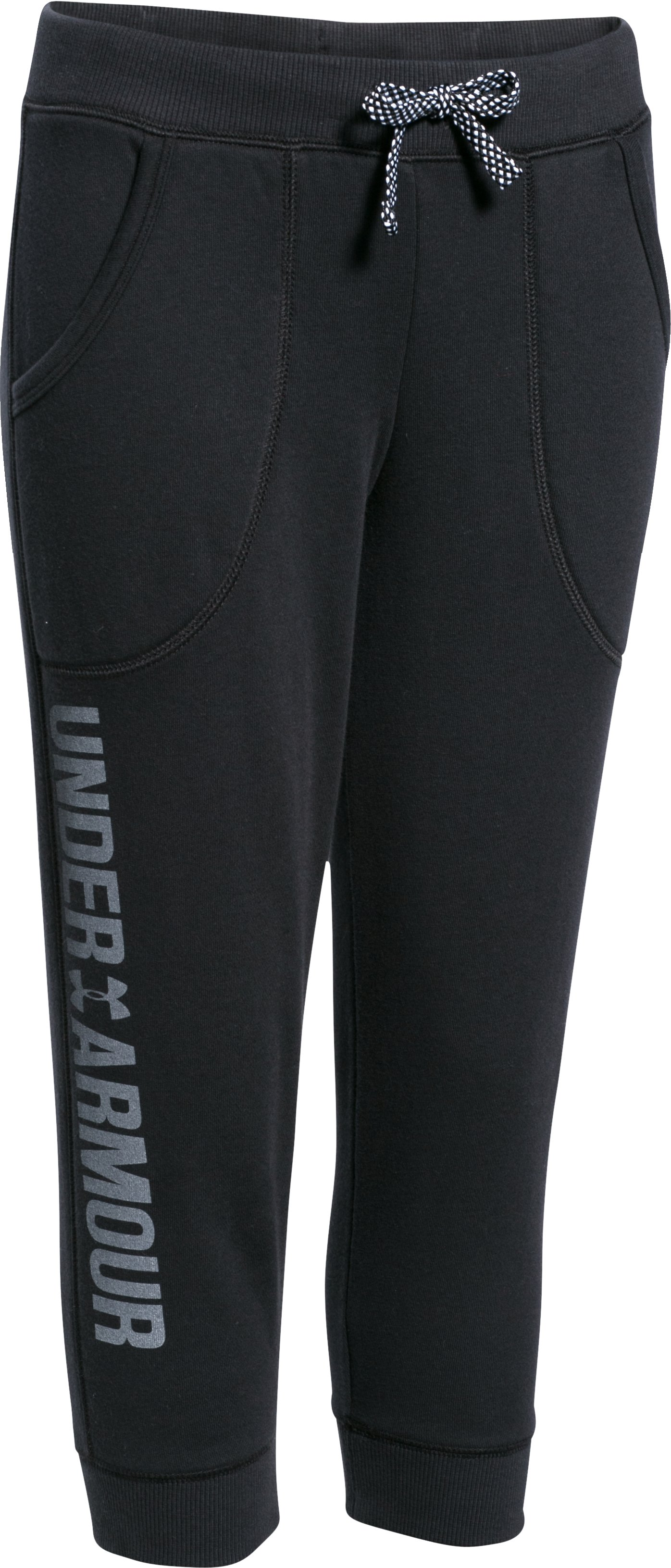 Girls' UA Favorite Fleece Capri, Black ,