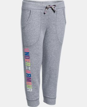New to Outlet Girls' UA Favorite Fleece Capri  2 Colors $29.99