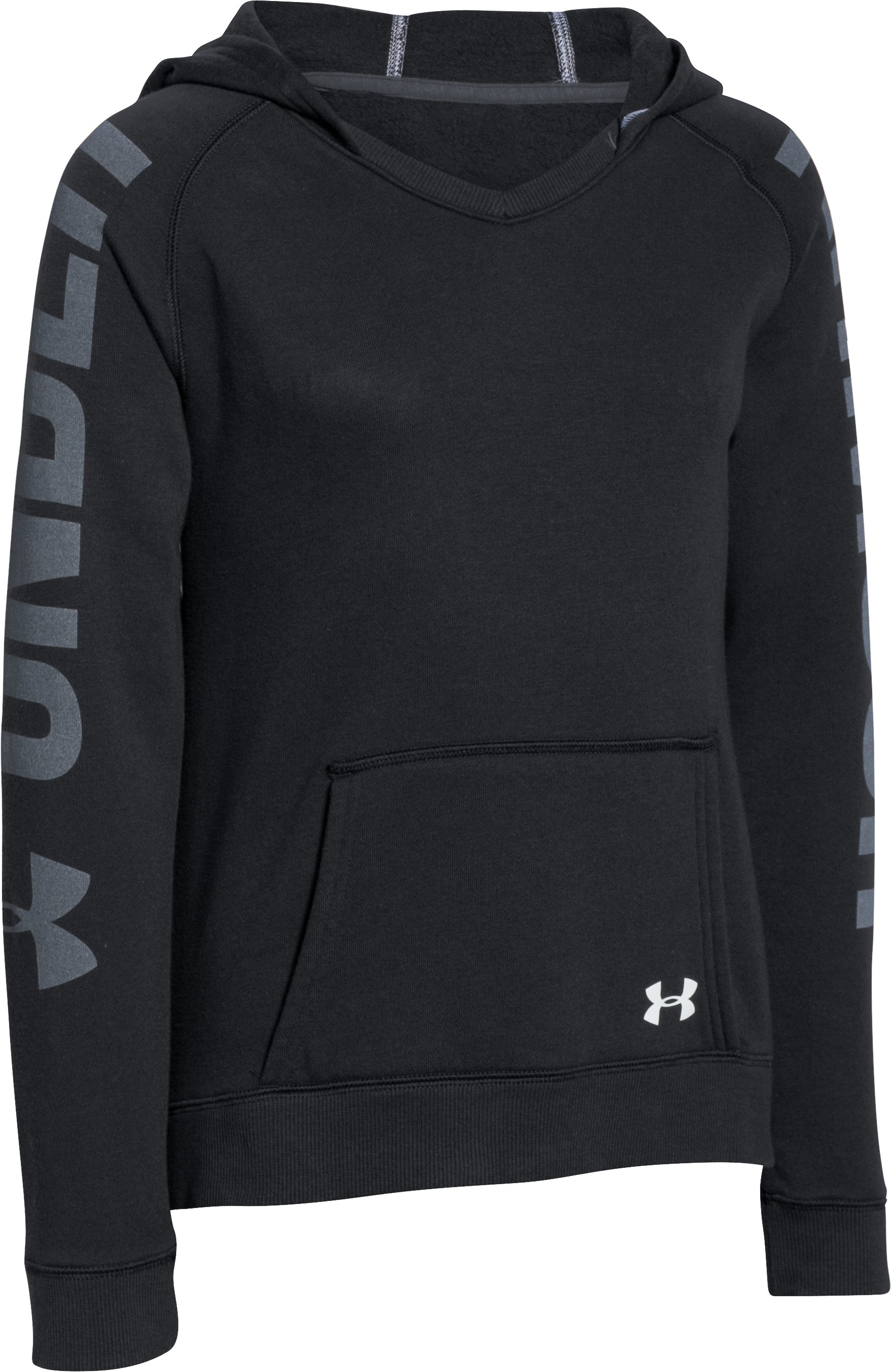Girls' UA Favorite Fleece Hoodie , Black ,
