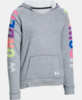 New Arrival Girls' UA Favorite Fleece Hoodie  LIMITED TIME OFFER 1 Color $29.99