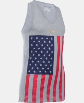 Best Seller Girls' UA USA Pride Tank LIMITED TIME: FREE SHIPPING  $24.99