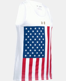 Best Seller Girls' UA USA Pride Tank LIMITED TIME: FREE SHIPPING 1 Color $24.99