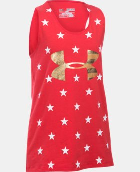 Best Seller Girls' UA Stars Of The USA Tank LIMITED TIME: FREE SHIPPING 1 Color $24.99