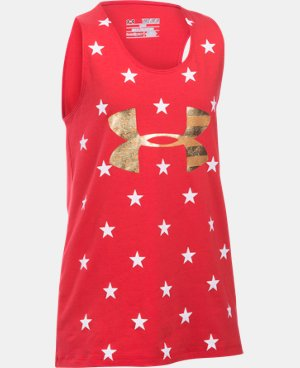 Girls' UA Stars Of The USA Tank LIMITED TIME: FREE U.S. SHIPPING 1 Color $14.24