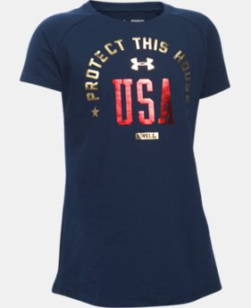 Best Seller Girls' UA PTH® USA Short Sleeve LIMITED TIME: FREE SHIPPING  $24.99