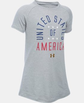 New Arrival Girls' UA Home Of The Brave Short Sleeve LIMITED TIME: FREE SHIPPING  $24.99