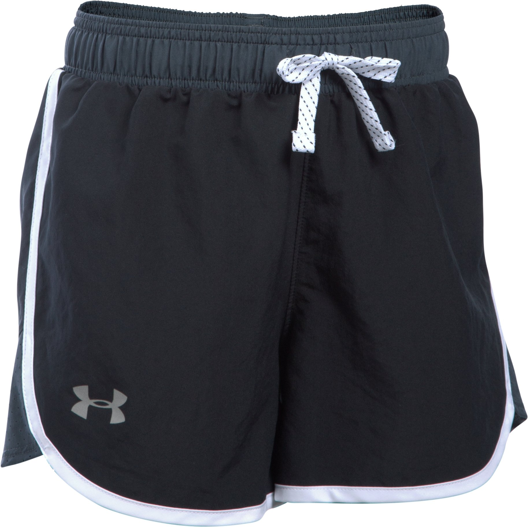Girls' UA Fast Lane Shorts, Black