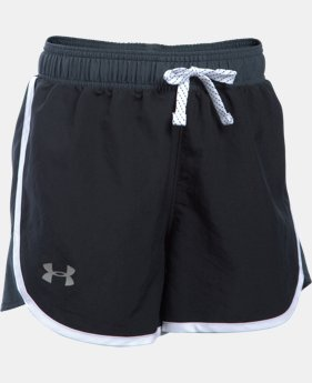 Best Seller Girls' UA Fast Lane Shorts LIMITED TIME: FREE SHIPPING 1 Color $24.99