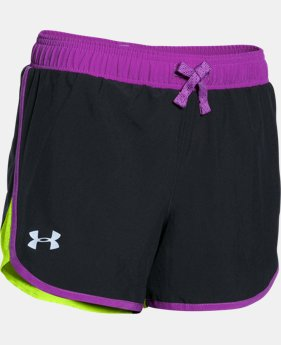 Girls' UA Fast Lane Shorts LIMITED TIME: FREE U.S. SHIPPING 11 Colors $11.24 to $18.99