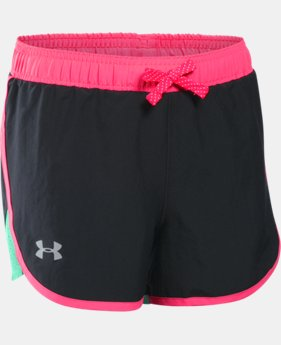 Girls' UA Fast Lane Shorts LIMITED TIME: FREE SHIPPING  $29.99
