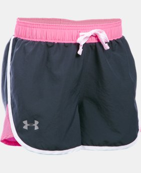 New Arrival  Girls' UA Fast Lane Shorts LIMITED TIME: FREE SHIPPING 1 Color $22.99 to $29.99