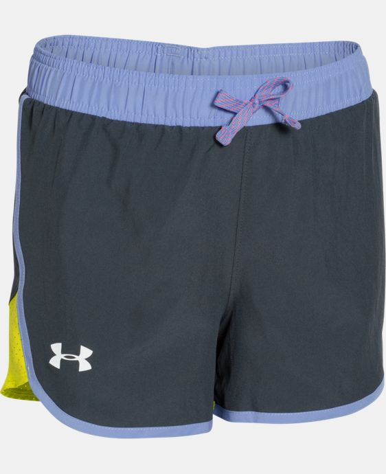 Girls' UA Fast Lane Shorts LIMITED TIME: FREE SHIPPING 4 Colors $17.24 to $22.99